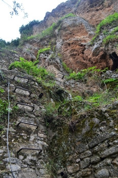 Photo of via ferrata in Ronda Spain. Read about the best adventure activity in Ronda Spain.