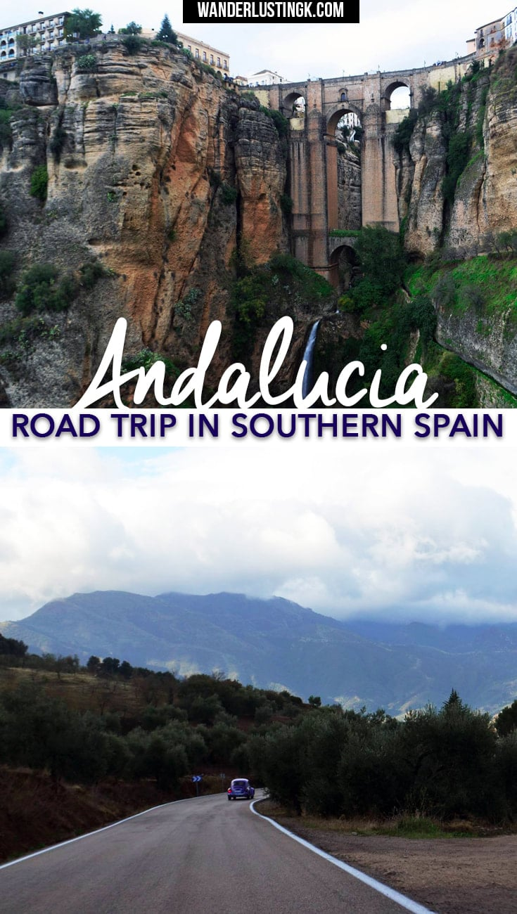 Tips for a road trip in Spain through Andalucia Spain, including Ronda, via ferrata, pueblos blancos (white villages), and El Torcal.