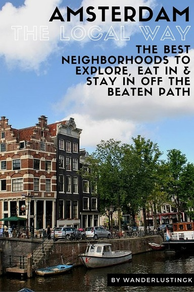 Visiting Holland? Find out the best areas to stay, live, eat, and explore in Amsterdam from a resident for tourists! With tips for getting off the beaten path!