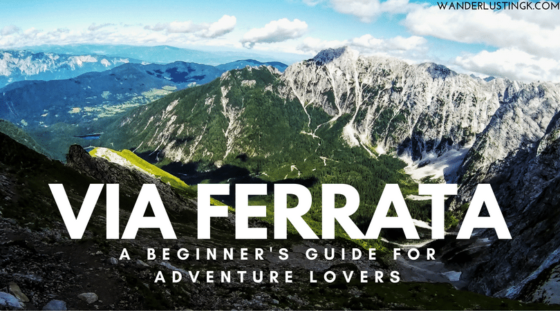 An introduction to via ferrata/klettersteig, a form of rock climbing: equipment, safety, and paths. For beginners, hill walkers, and adventure sports lovers.