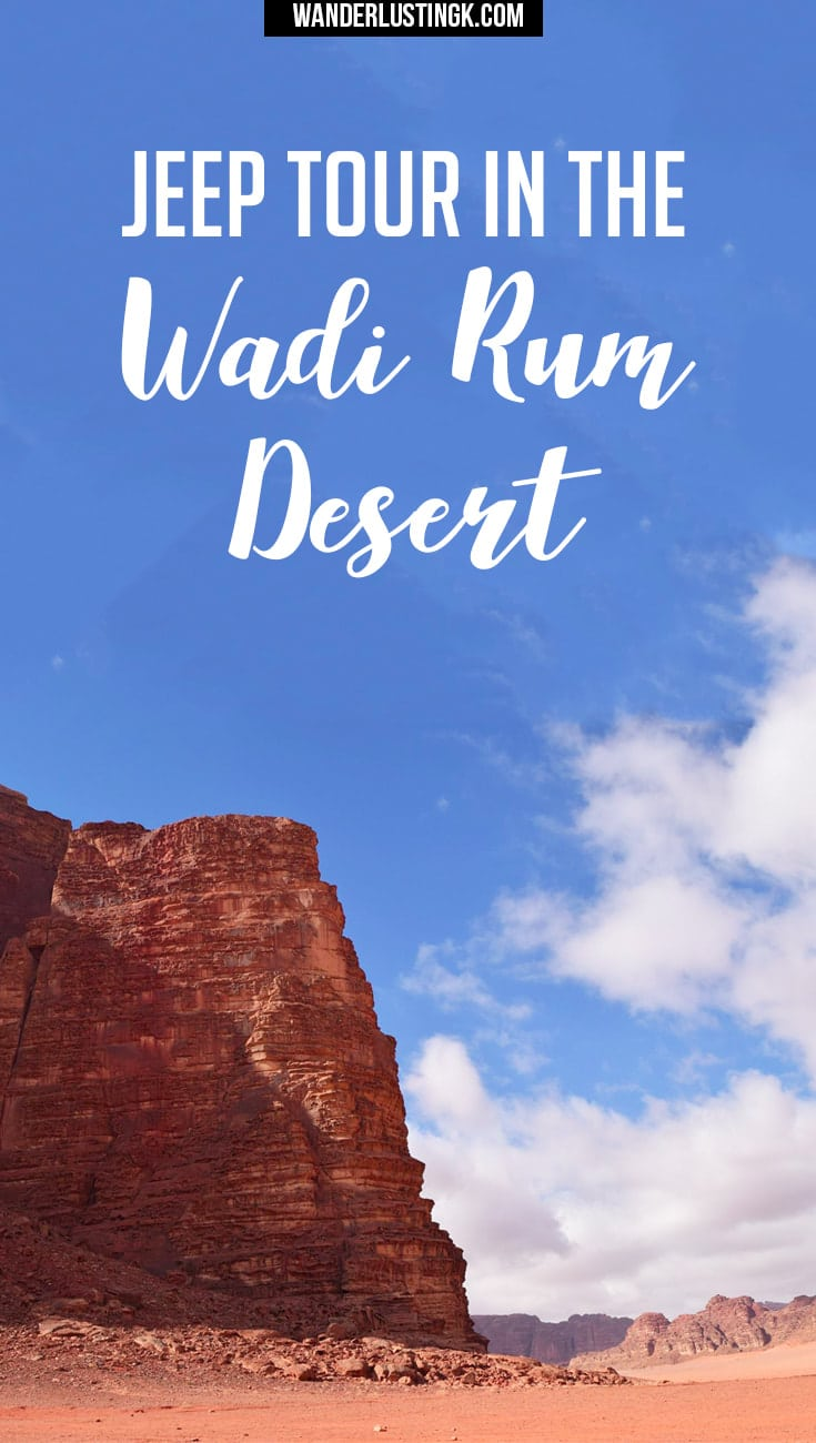 Find out about Bedouin life in Jordan and what to expect when taking a 4x4 jeep tour in the Wadi Rum Desert.