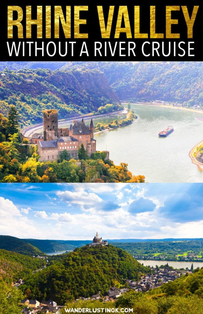 Tips for visiting the Rhine Valley wine region in Germany independently without a river cruise. Includes tips for visiting Rhine Valley on a budget. #Travel #Germany #Europe #Wine