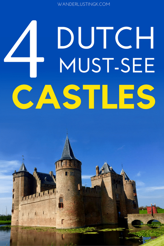 The most beautiful castles in the Netherlands. Read your guide to the best castle day trips from Amsterdam, including four Dutch castles perfect for any European castle lover visiting Amsterdam! #travel #castles #amsterdam