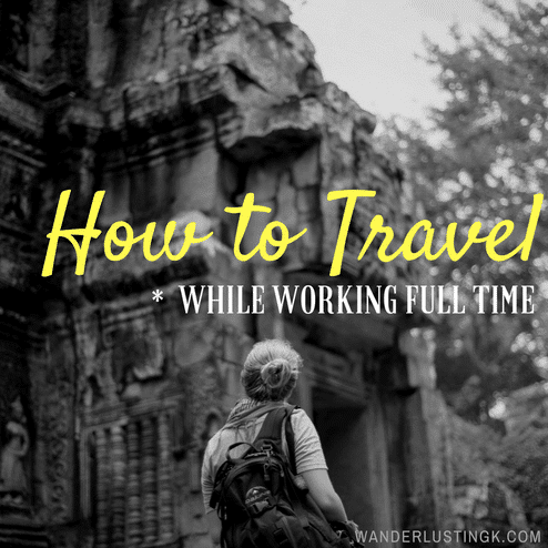 Don't have enough vacation days but want to travel more? Tips to get the most out of your vacation days off to travel more while working full time.
