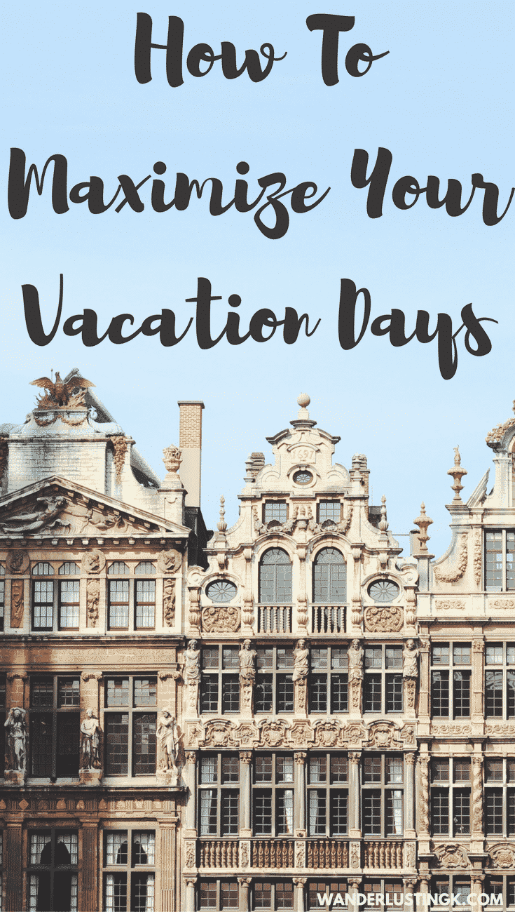Don't have enough vacation days but want to travel more? Tips to maximize your vacation days to travel while working full time. Part-time travel is great!