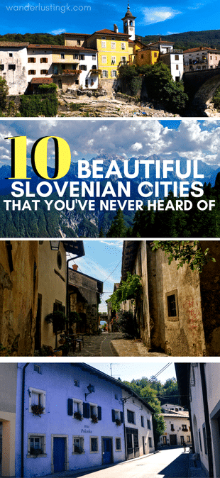 Visiting Slovenia and wondering what cities to see on a Slovenian road trip? Read about 10 little-known beautiful Slovenian cities that you must see! #Slovenia #Europe