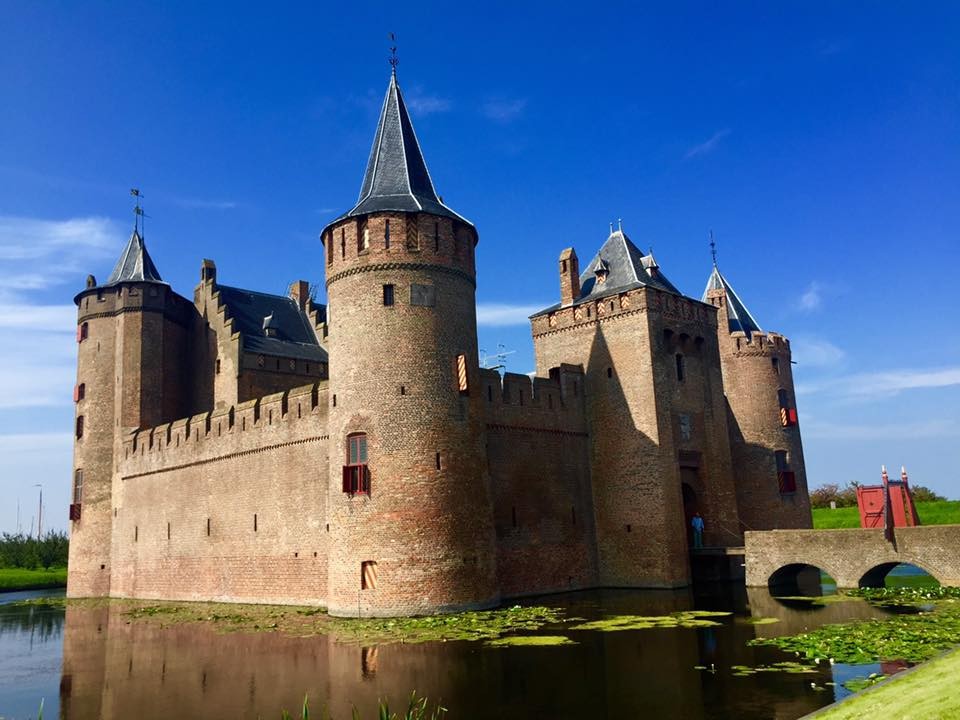 Photo of Muiderslot castle, a castle near Amsterdam. One of the top places to visit in the Netherlands