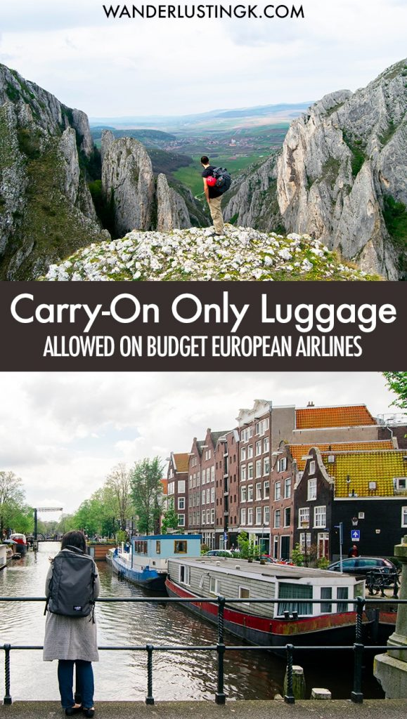Looking for the best carry on backpack that fits European budget airlines with no extra fees? Tips for the perfect carry-on bag for European backpacking!