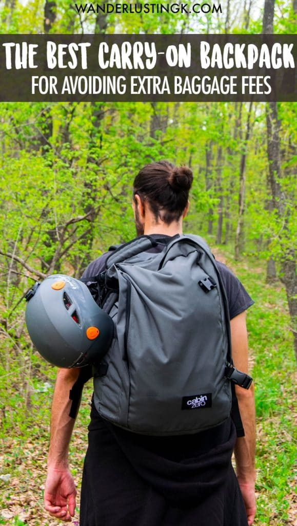 Looking for the best carry on backpack for budget travel with no extra baggage fees? Read about the perfect carry-on only luggage. Review of CabinZero.