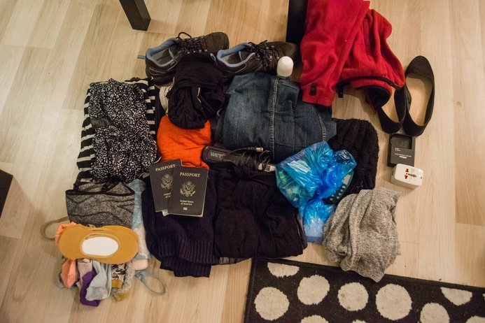 What you can fit in a carry-on bag