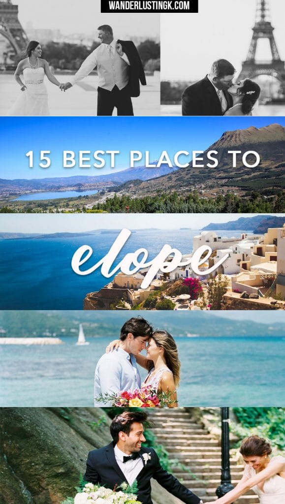 Wondering how to elope? Find out the best 15 places to elope from around the world with unique elopement places & see beautiful elopement pictures!