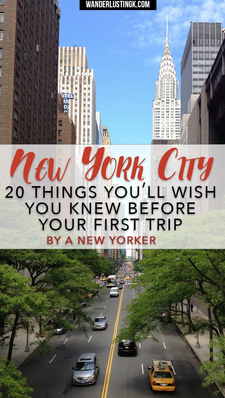 Insider New York travel tips for first time visitors by a native New Yorker that you'll want to read before your first trip to NYC.