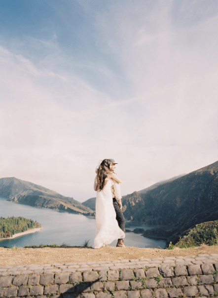 Couple in Azores, Portugal. For more Portuguese elopement inspiration and European elopements, find out the most romantic places to elope.