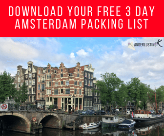 A free downloadable packing list for Amsterdam written on what to pack for Amsterdam