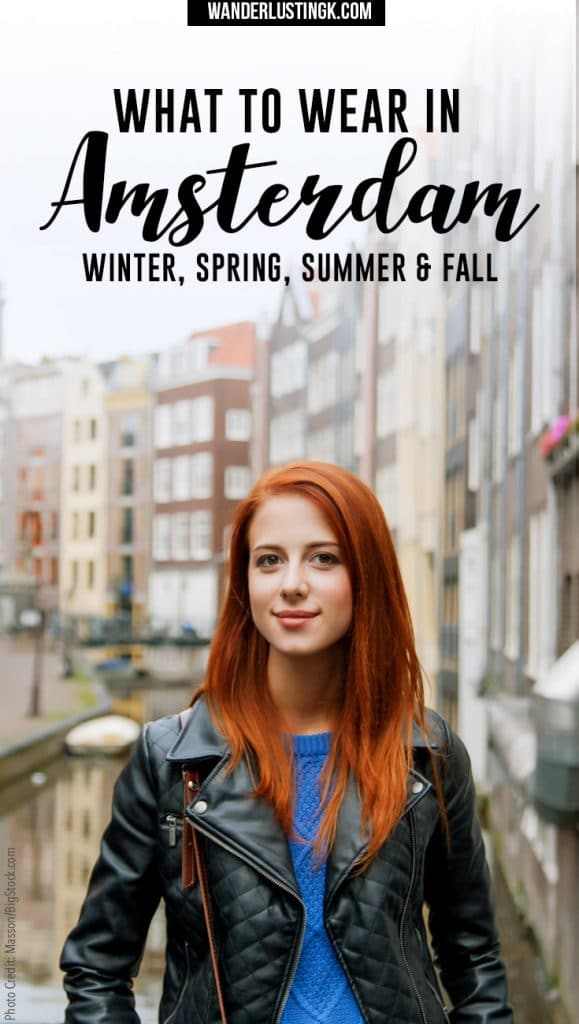 Wondering what to pack for Amsterdam? Insider tips by a resident for what to wear in Amsterdam in spring, fall, winter, and summer!