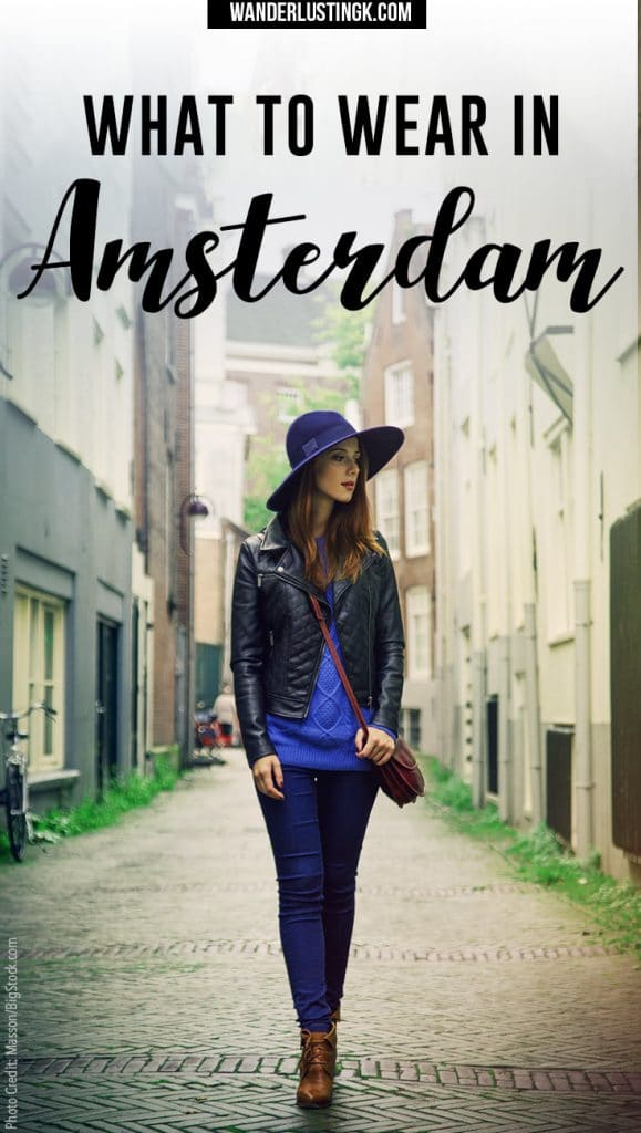 Find out what to wear in Amsterdam in spring & what not to pack in April! Tips from an Amsterdam resident on what to pack for Amsterdam with a FREE packing list for Amsterdam!