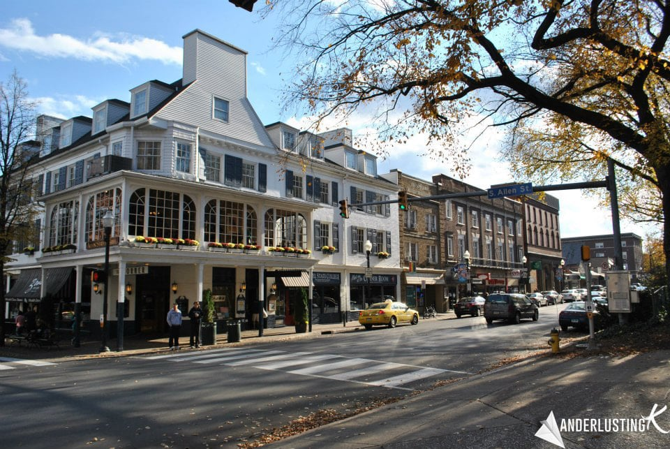 Photo of downtown State College. Read more things to do in State College and things to do at Penn State!