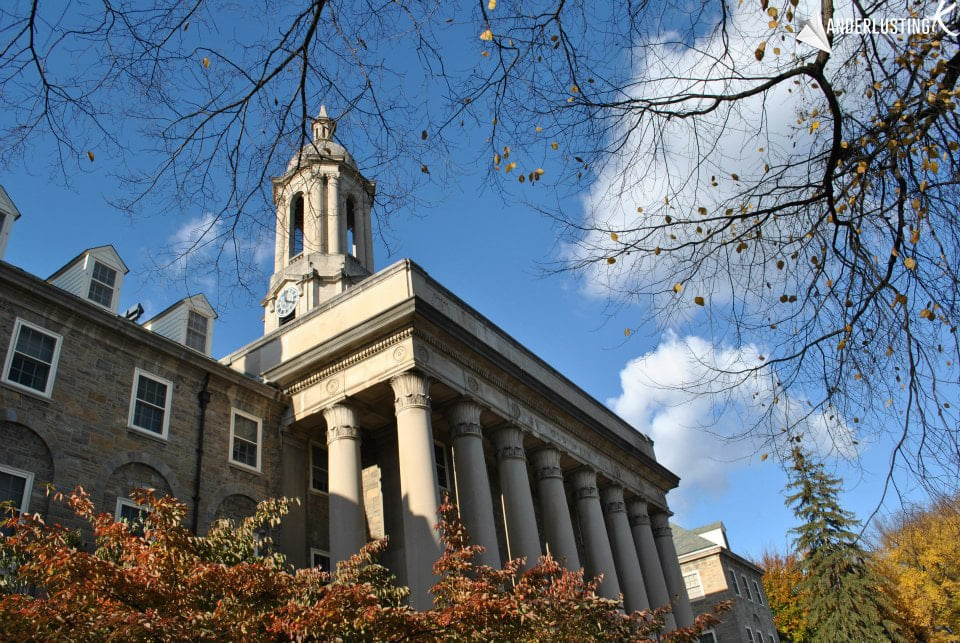 Photo of Old Main at Pennsylvania State University. Find out the best things to do at Penn State!