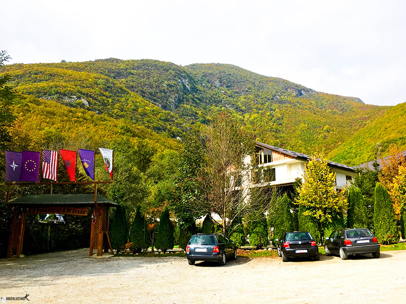 Ujvara e Drinit, one of Peja's best restaurants with a view. Click for more reasons to visit Kosova!