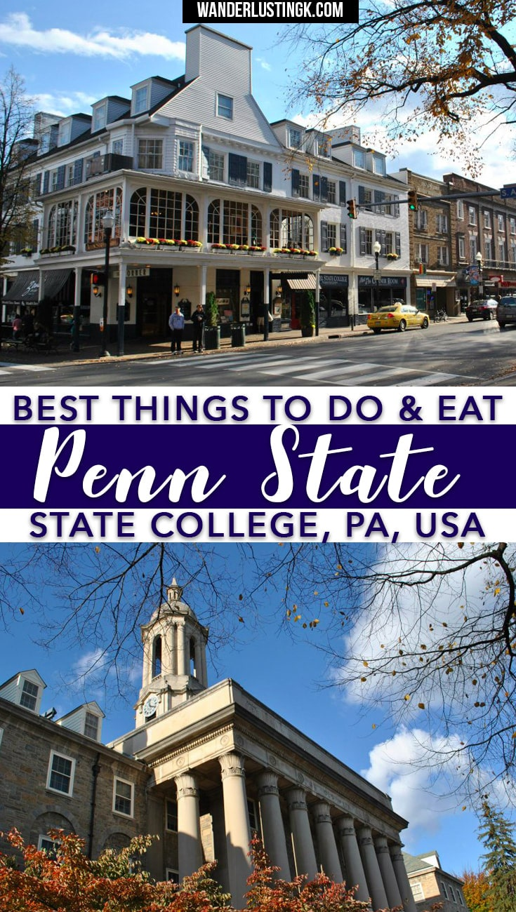 Attending PSU? A complete guide by a Penn State alum on where to eat, where to drink, fun things to do in State College, and day trips from Penn State !