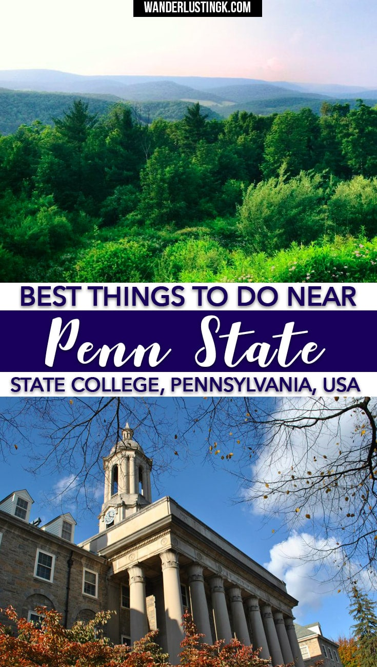 Find out the best things to do in Central Pennsylvania and the best day trips from Penn State! There's lots of things to do near State College PA!