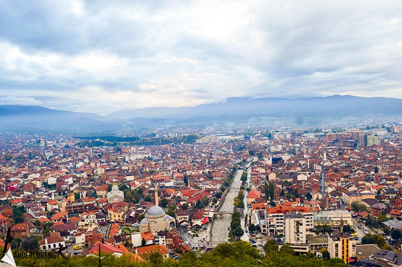 View from the Kaljaja Prizren Fortress in Kosovo. One of the must see attractions in Kosovo!