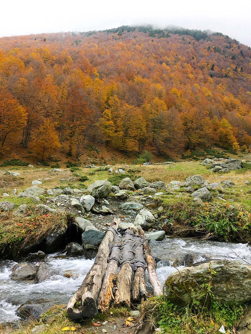 Shepard's wooden bridge in Prevalla, Kosovo. Beautiful view of Sar Mountains, one of the best day trips from Prizren.