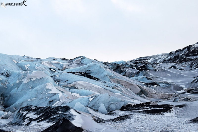 Glacier in Iceland. FInd out about the Iceland weather in December and download your free Iceland Packing List for Winter.