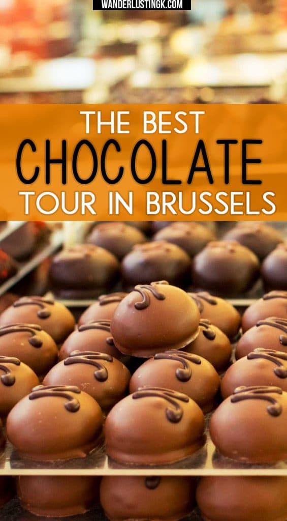 Visiting #Brussels? Read the best chocolate tour in Brussels (a self guided walking tour!) with tips for finding the best Belgian chocolate in Belgium #chocolate