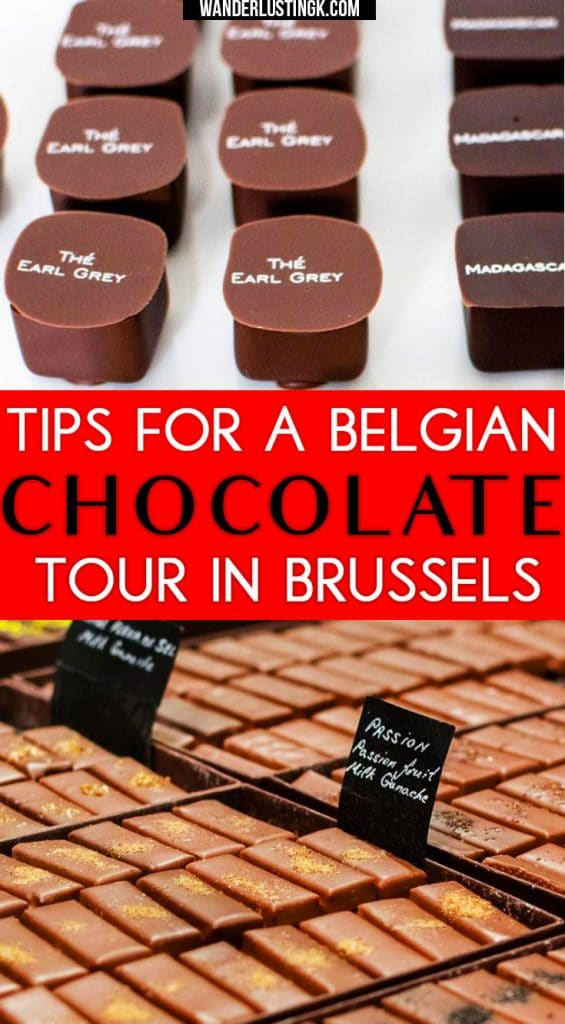 Figuring out what to do in Brussels? Take a self-guided chocolate tour to eat the best Belgian chocolate in Brussels! #Brussels #Belgium #travel #chocolate