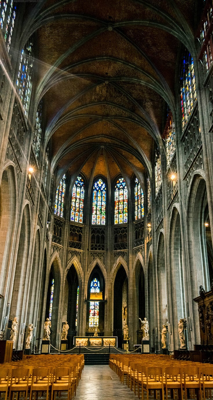 Photo of Collegiate Church of Saint Waudru in Mons, one of the best things to do in Mons.