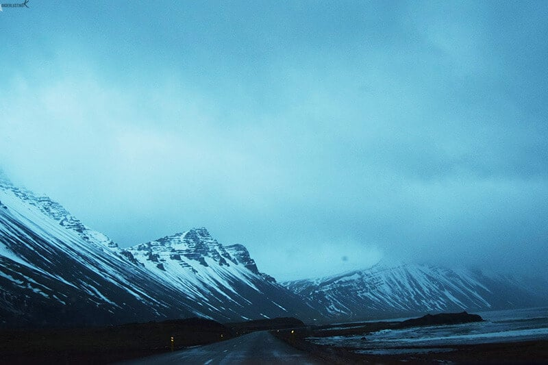 Photo of road in Iceland. Find out the best road trip itinerary for Iceland in winter.