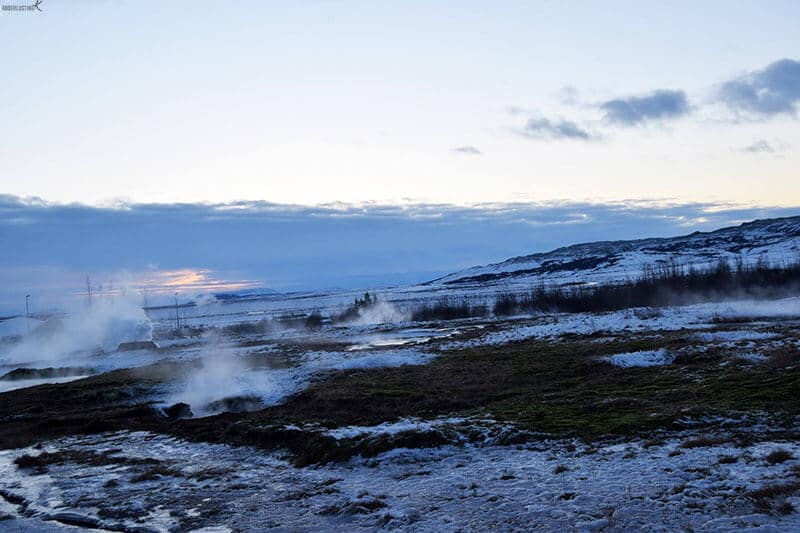 Photo of Geysir in Iceland. Find out the perfect 10 day road trip itinerary for Iceland