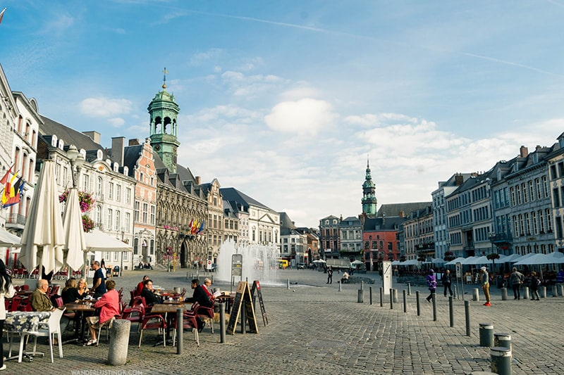 Grand Place in Mons Belgique. One of the cutest cities in Belgium!