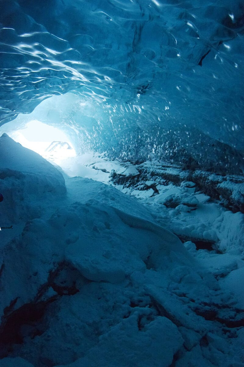 Photo of ice cave in Iceland in winter. Find out the best attractions in Iceland in winter.