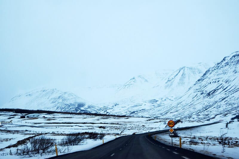 Photo of iceland road. Find out about visiting Iceland in December.