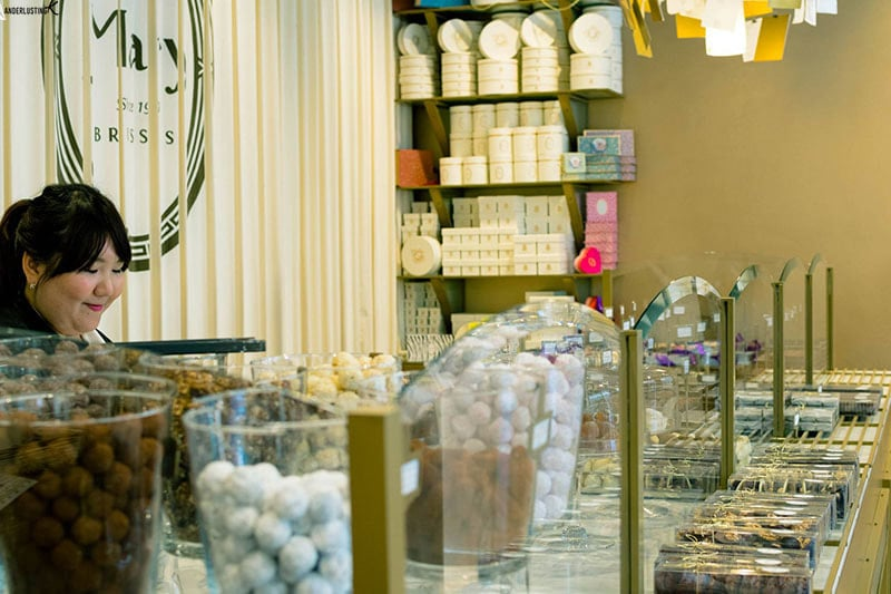 Photo of Mary chocolate shop in Brussels, one of the best places to visit in Brussels.