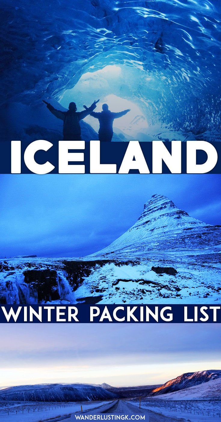 Packing for Iceland in Winter? Find out what to wear in Iceland in winter & what to pack for Iceland. Includes free 7 day Iceland packing list on a budget