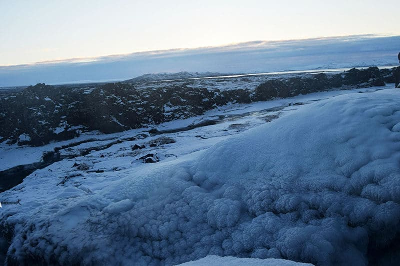 Photo of Thingvellir Park in Iceland in winter. Find out the best things to see in Iceland in winter.