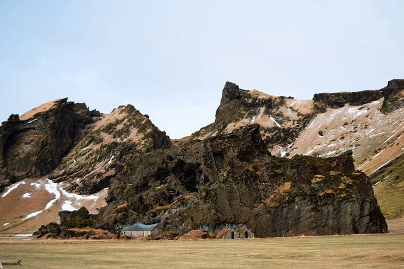 Photo of turf house in Iceland. Find out the best iceland itinerary for winter.