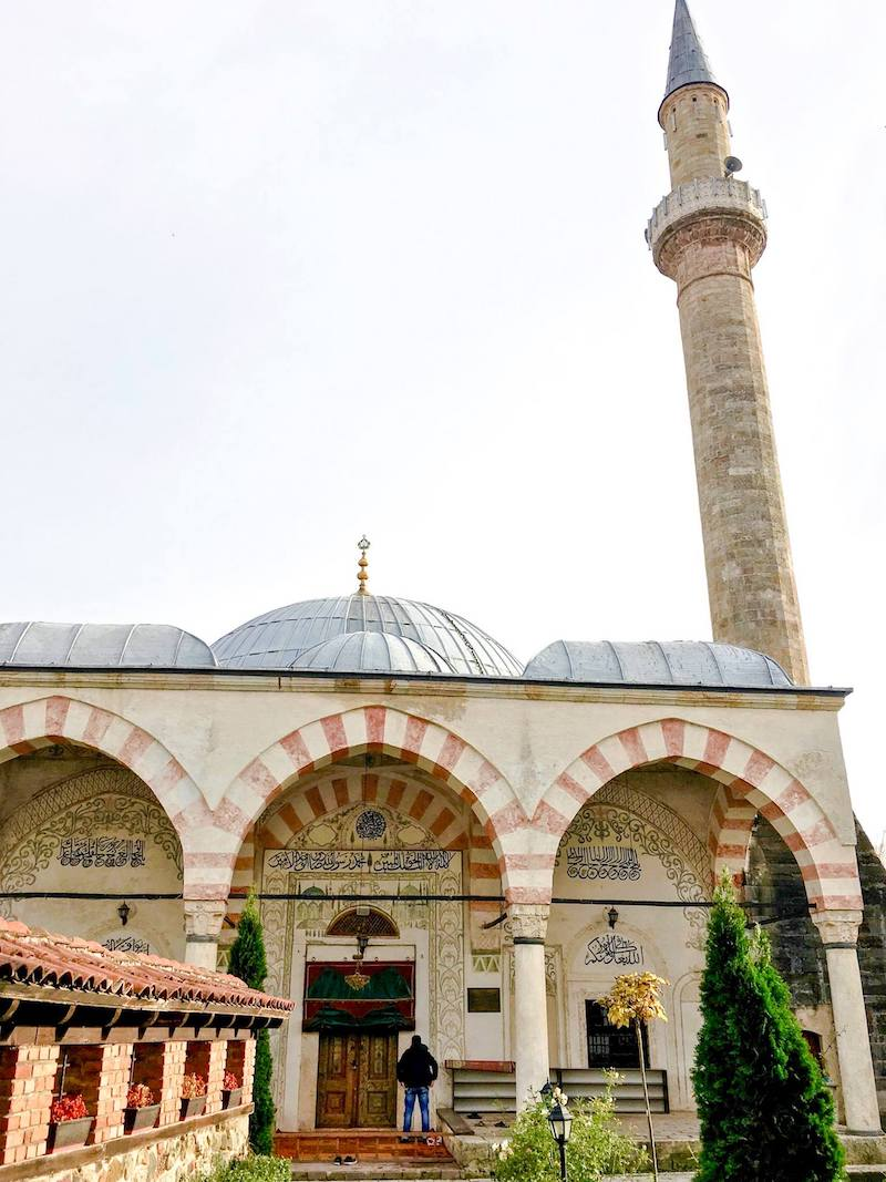 Photo of the Hadum Mosque in Kosovo. The interior of this beautiful mosque is why you should visit Kosovo! #mosque #travel #Kosovo #Balkans