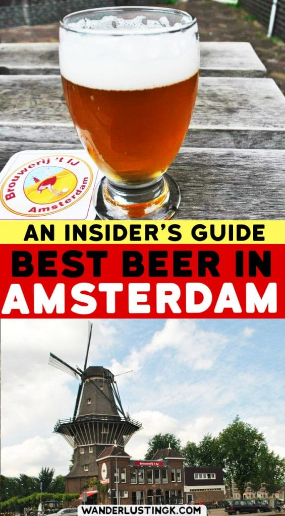 Love Beer? Your guide to going out in Amsterdam for beer by a local with the best breweries & beer bars in Amsterdam. #craftbeer #Amsterdam #beer #travel