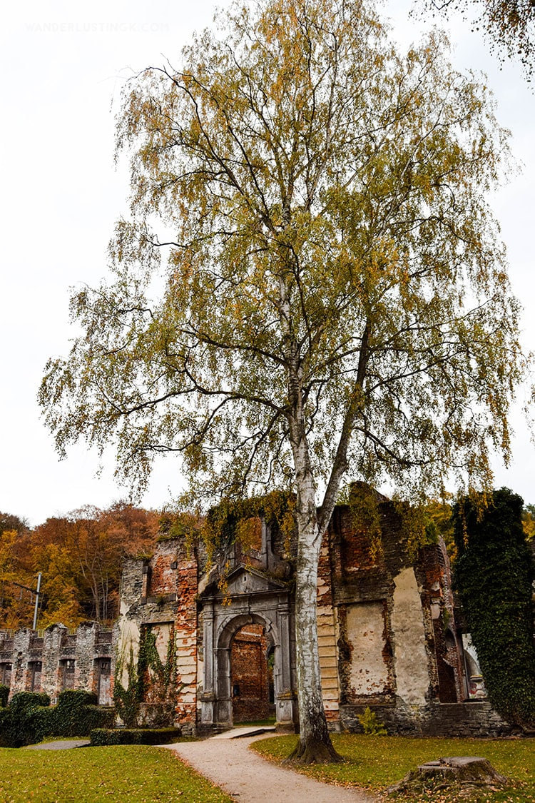 Ruins of Abbaye de Villers, one of the most beautiful ruins in Belgium.