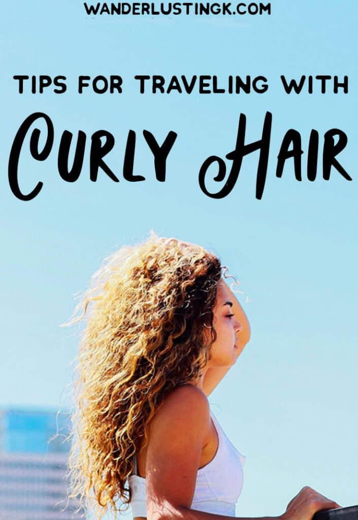 Tips for perfect curly hair while traveling & dealing with frizzy hair while traveling with the best hair products. #CurlyHair #Travel #Hair #Beauty