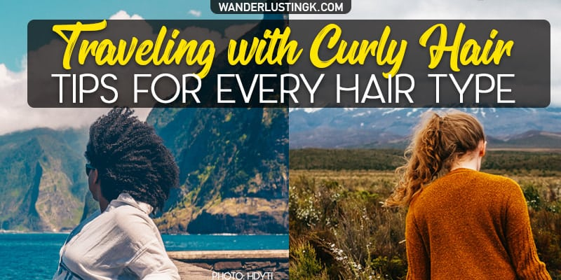 Tips for traveling with curly hair & best curly hair travel products for every curly hair type