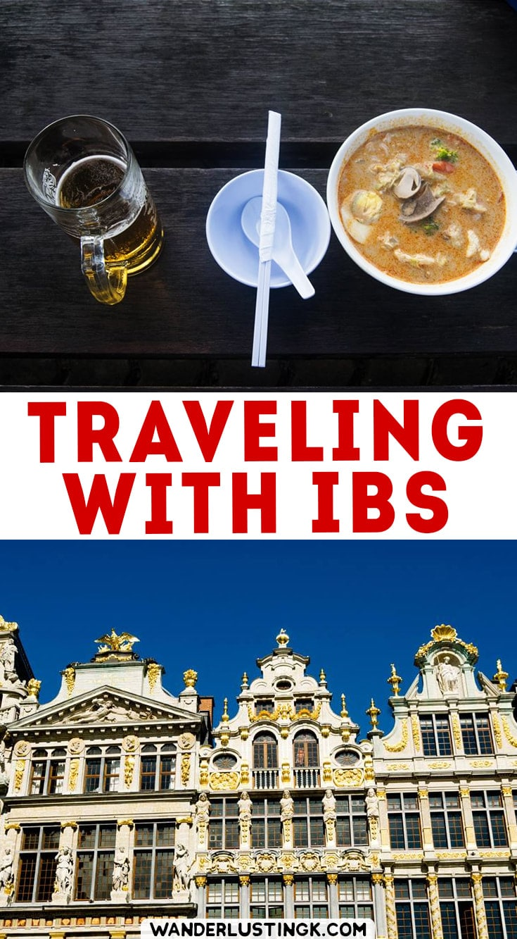 Love travel and have irritable bowel syndrome? IBS Travel tips with tips for dealing with IBS while traveling and tips for traveling with IBS! #IBS #Travel