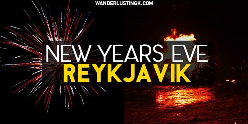 Celebrating New Year's Eve in Reykjavik Iceland