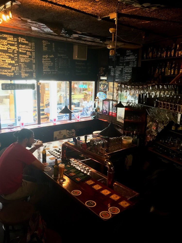 Photo of Gollum Cafe in Amsterdam, one of the best craft beer bars in Amsterdam with tips for Dutch craft beer.