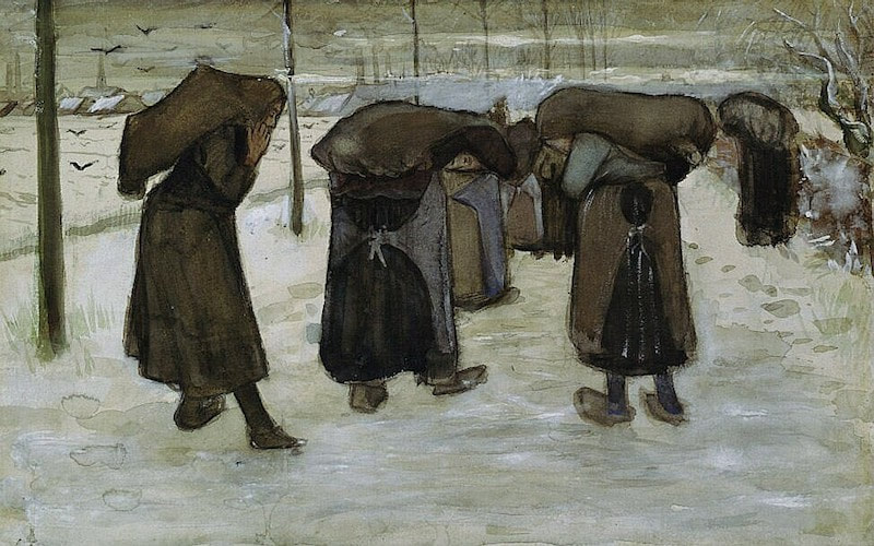 Women carrying sacks of coal in the snow, november 1882 by Vincent Van Gogh. Image copyright (and used with permission) from Collection Kröller-Müller Museum, Otterlo, the Netherlands