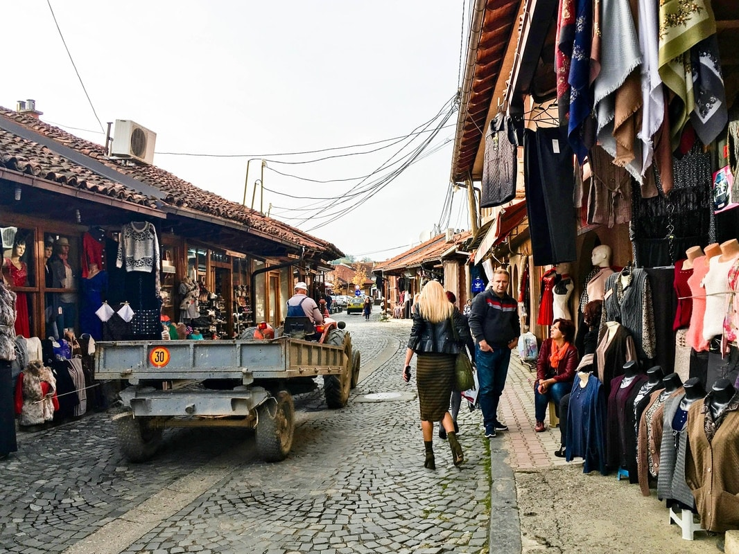 Photo from the Grand Bazaar of Gjakova, one of the best things to see in Gjakova. See more beautiful cities in Kosovo!